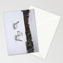 Snowy Meeting Stationery Cards