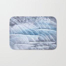 Light steel blue clouded wash drawing Bath Mat