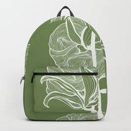 Cotton in Green Backpack