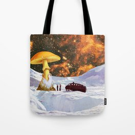 Withe Planet Tote Bag