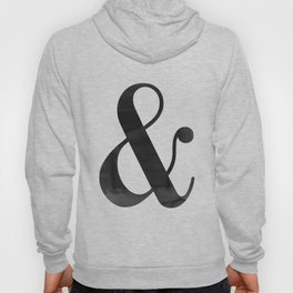 Ampersand And Sign Ampersand Print Ampersand Poster Scandinavian Typography Modern Minimalist Hoody