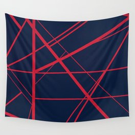 Crossroads - Navy and Red Wall Tapestry