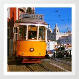 Portuguese tram Art Print