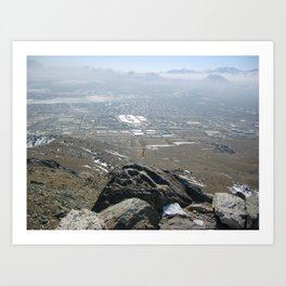 Above the valley of death Art Print