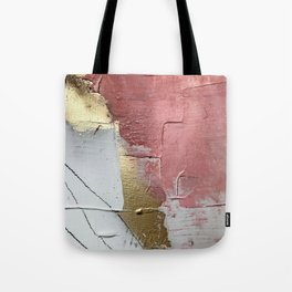 Darling: a minimal, abstract mixed-media piece in pink, white, and gold by Alyssa Hamilton Art Tote Bag