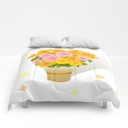 Bouquet of asters Comforters