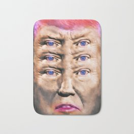 """Trump's Alternative Facts: """"I don't believe anything, I see things"""". Bath Mat"""