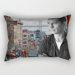 Jack Kerouac San Francisco Rectangular Pillow