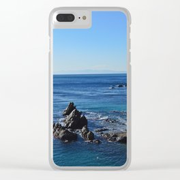 Amazing sea landcape from Genova , Italy Clear iPhone Case