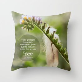 Free Feather Throw Pillow