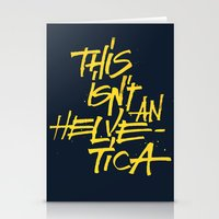 "lettering Stationery Cards featuring ""Helvetica"" Lettering by Srg44"