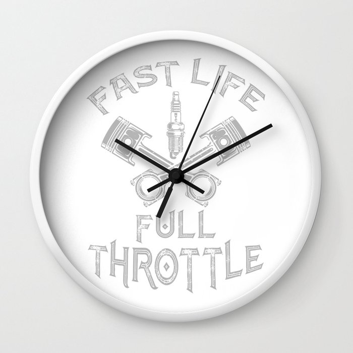 Fast Life Full Throttle Motorsports Motocross Quads ATVs Wall Clock