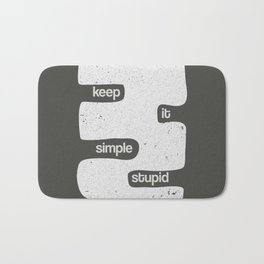 Kiss - Keep it simple stupid - Black and White Bath Mat