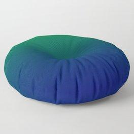 Green to Blue Gradient Floor Pillow