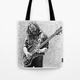 Lemmy scribble art Tote Bag