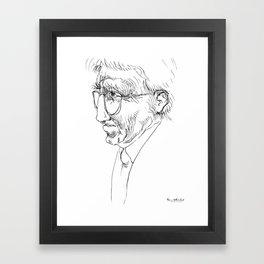 Jurgen Habermas (philosopher) Framed Art Print