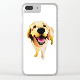 Good Boy / Yellow Labrador Retriever dog art Clear iPhone Case