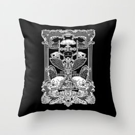 THE POLITICS OF GREED Throw Pillow