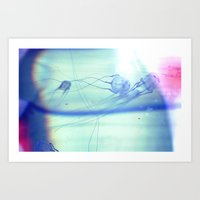 jelly fish Art Prints featuring Jelly Fish by Amee Cherie Piek