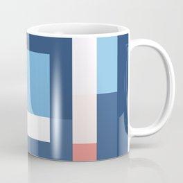 Squares Navy Coffee Mug
