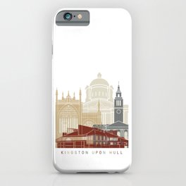 Kingston Upon Hull skyline poster iPhone Case