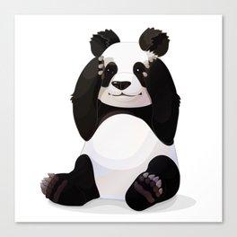Cute big panda bear Canvas Print