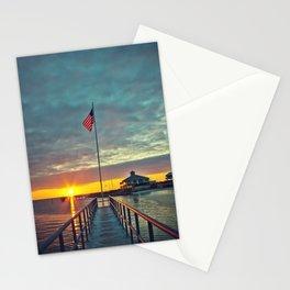 Harbor Sunset Stationery Cards