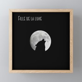 Daughter of the moon wolf version Framed Mini Art Print