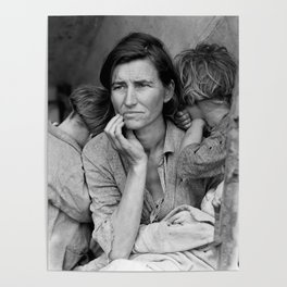 Migrant Mother by Dorothea Lange - The Great Depression Photo Poster