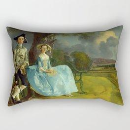 "Thomas Gainsborough ""Mr and Mrs Andrews"" Rectangular Pillow"