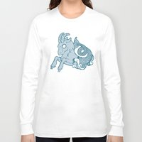 capricorn Long Sleeve T-shirts featuring Capricorn by rebecca miller