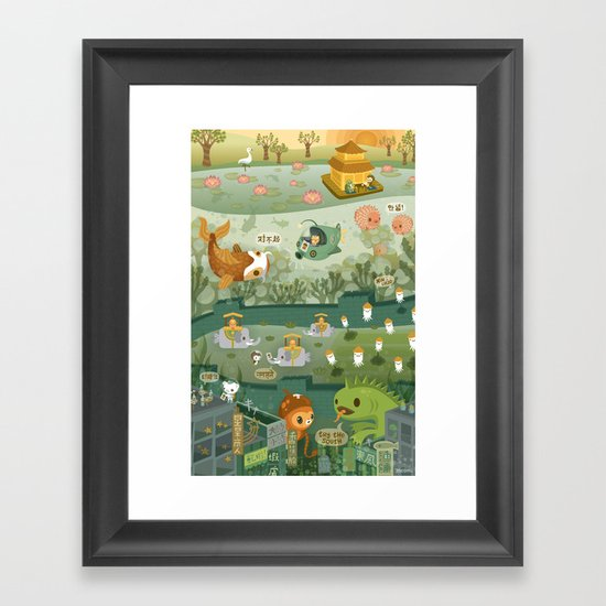 The Octonauts Explore the East Framed Art Print