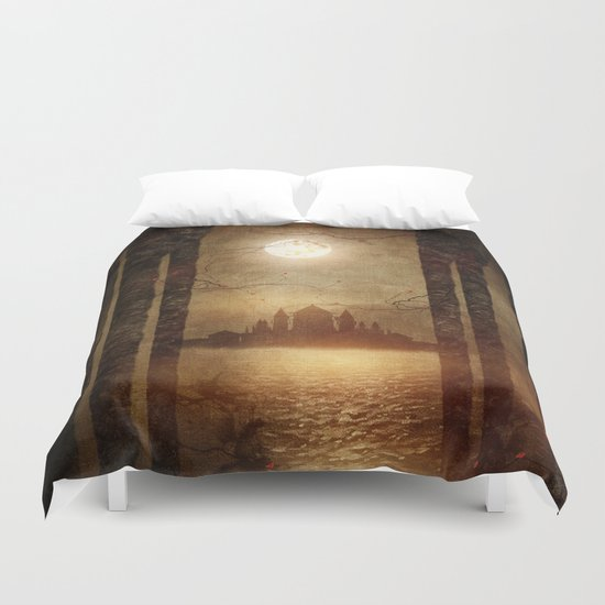 The moon is singing Duvet Cover