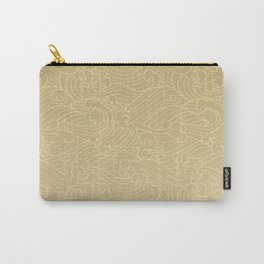 Light Waves in Golden Carry-All Pouch