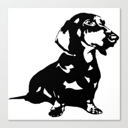 Dachshund Doxie Daxie Wiener  Dog Breed  Canvas Print