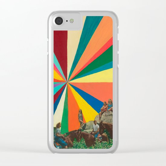 Summer Vacation Clear iPhone Case