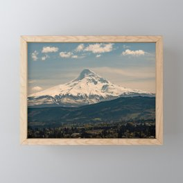 Mountain Valley Pacific Northwest - Nature Photography Framed Mini Art Print
