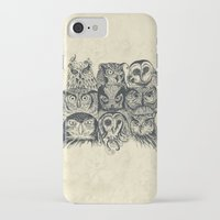band iPhone & iPod Cases featuring Nine Owls by Rachel Caldwell