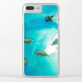 Turquoise Tropical Ocean Clear iPhone Case