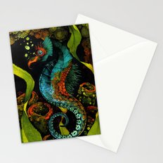 Seahorse in Blue Stationery Cards