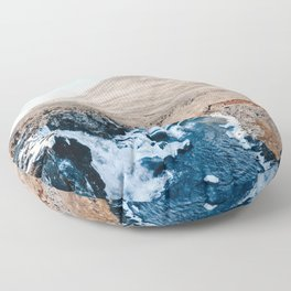 Waterfall in Iceland Floor Pillow