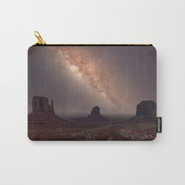 Milky Way long exposure photo in Monument Valley Carry-All Pouch