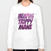 memphis Long Sleeve T-shirts featuring Memphis Trippy by negativecreep