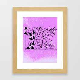 Purple Triangles Framed Art Print