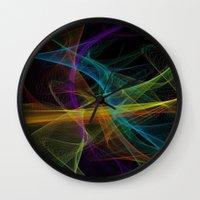 destiny Wall Clocks featuring Destiny by Christine Workman