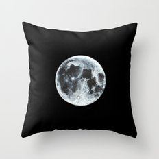 Full Moon Painting Throw Pillow