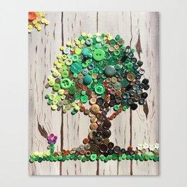 Button Tree Canvas Print
