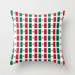 Flag of mexico 2- mexico,mexico city,mexicano,mexicana,latine,peso,spain,Guadalajara,Monterrey Throw Pillow