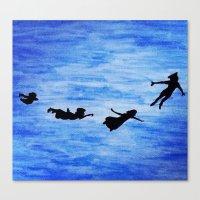 neverland Canvas Prints featuring Neverland by Sierra Christy Art