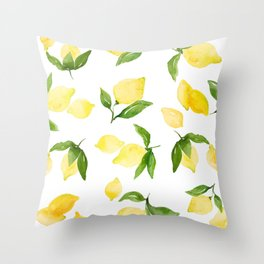 lemon love Throw Pillow